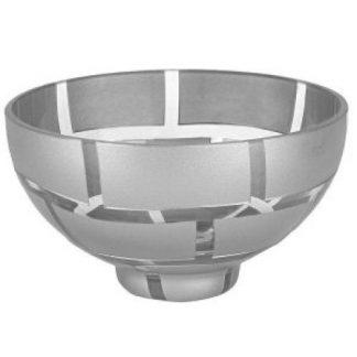 "Silver Wall 7"" European Lead Free Crystal Bowl"