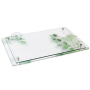 Leaf Lucite Challah Board with Salt Dish