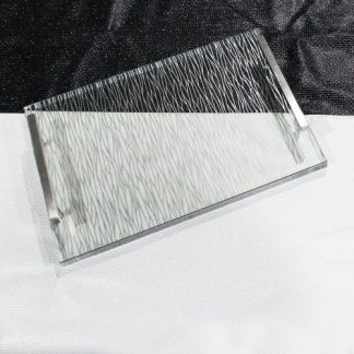 Silver and Clear Wave Challah Board