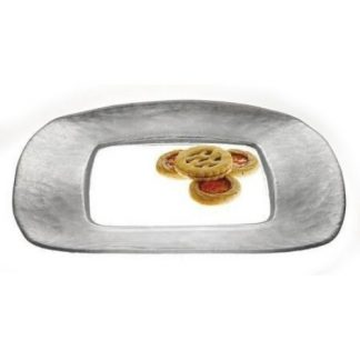 Silver Square Glass Charger