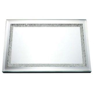 Mirror Tray with Crystals