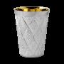 Hersi Diamond Engraved Sterling Kiddush Cup