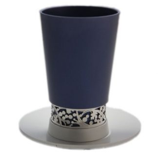 Blue Kiddush Cup and Tray