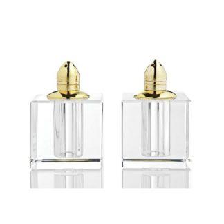 Gold Vitality Crystal Salt & Pepper Shaker Set